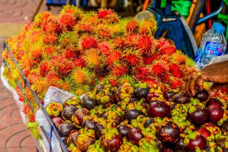 Rambutan und Magostane